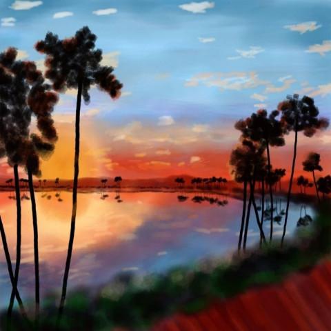 #oasis,#paisaje,#dibujo,#picture,#art,#dcoasisinthedesert