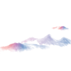 ftestickers mountains chinesestyle asian colorful freetoedit