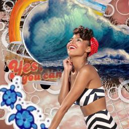 freetoedit collage summertime surf wave