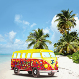 freetoedit volkswagen bus beach peace