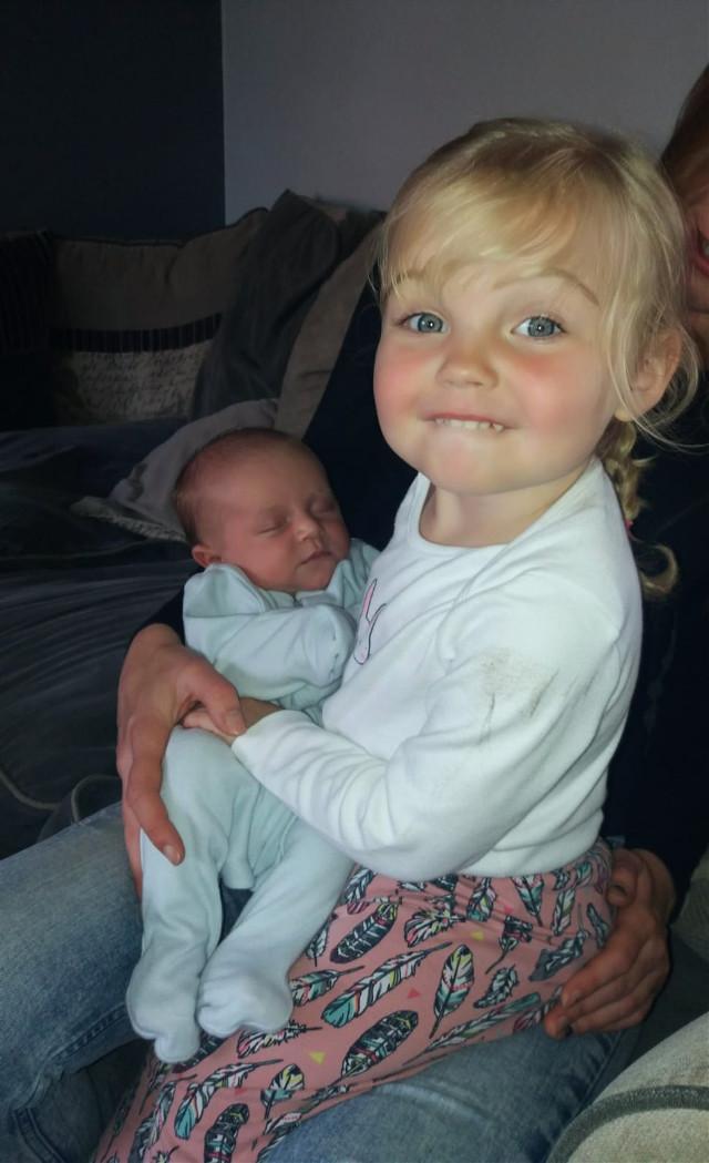Just Scarlett holding Jacob #grandchildren #family #happiness #proudgrandparents  #freetoedit