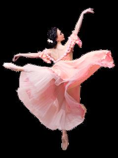 ftestickers woman dancer ballerina pink freetoedit