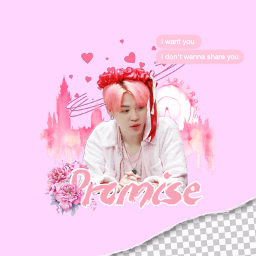 freetoedit jimin bts love pink ecohmyheart