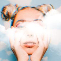 freetoedit clouds girl awesome