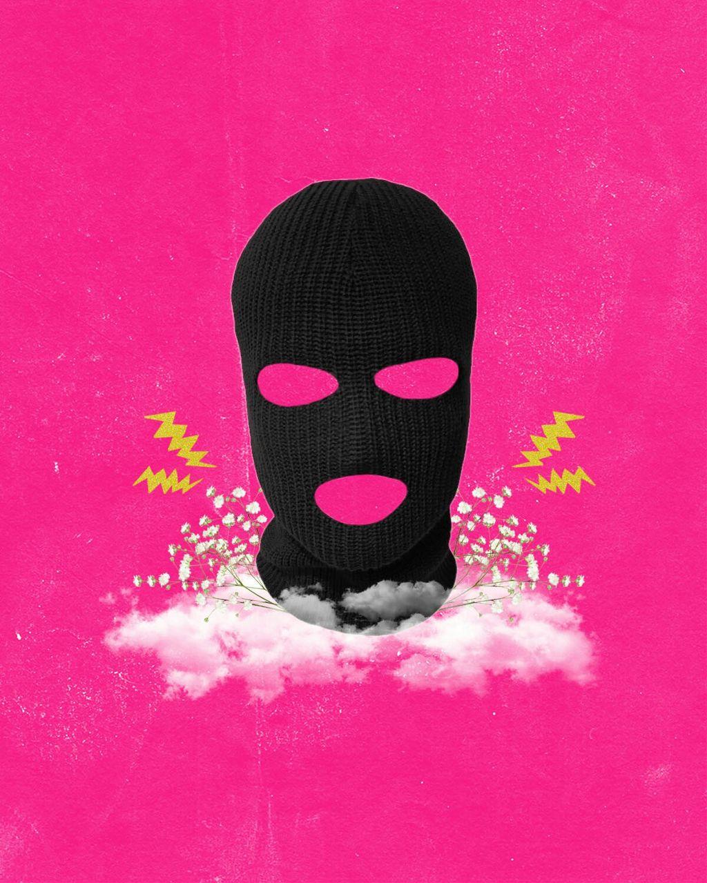 Girl Power. #collage #collageartist #collageoftheday #girlpower #skimask #pink #feminist