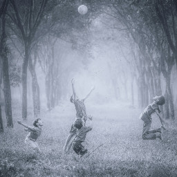 freetoedit forest playing kids children