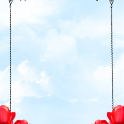 martyr background invitations card tulip