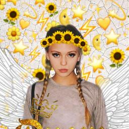 lauren laurengray queen sunflower sunflowercrown freetoedit
