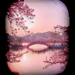 freetoedit ftestickers landscape lake bridge