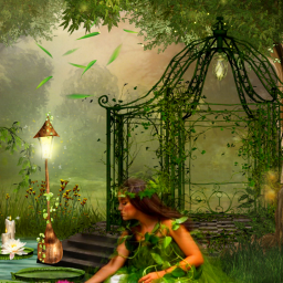 freetoedit fantasyart fairygarden fairylights dreamy