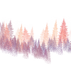 ftestickers watercolor trees forest colorful freetoedit