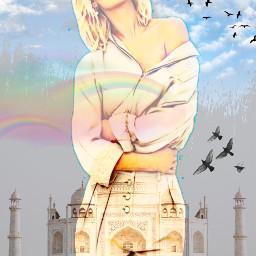 freetoedit female grayskies cloudsandsky rainbows myeditoffreetoedit