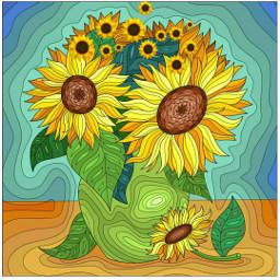 freetoedit wallpapers love flowers art srcsunflowerselfie