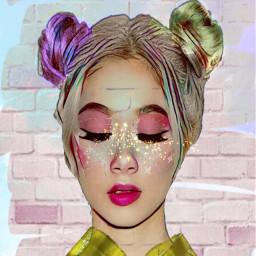 freetoedit female eyelids eyeshadow golddust myeditoffreetoedit