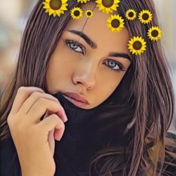 freetoedit srcsunflowerselfie sunflowerselfie