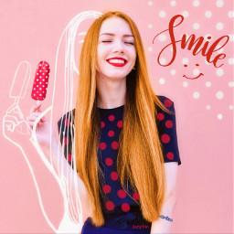 freetoedit ircsummersmile summersmile smile polkadots