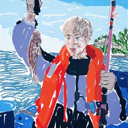 freetoedit kimseokjin jin bts fishing dcfishingweek