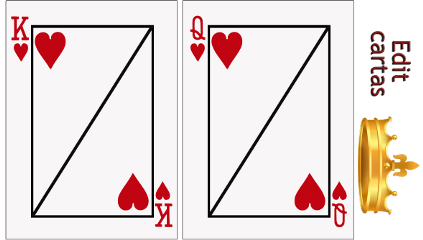 cartas queen king redheart corona freetoedit