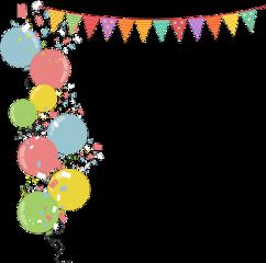 birthday balloons banner freetoedit