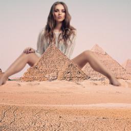 freetoedit piramides girl woman traveling ectraveltheworld