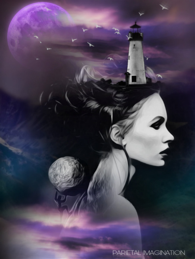Edit by: Parietal  Imagination Art  @pa #overcome #theclimb #challenges #theclimb #landscape #portrait #moon #lighthouse #freetoedit #birds #surreal #surrealism #fx #madewithpicsart #vip #parietalimagination  💗💗💗💗💗