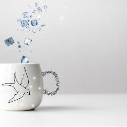 freetoedit girl cup white coffee
