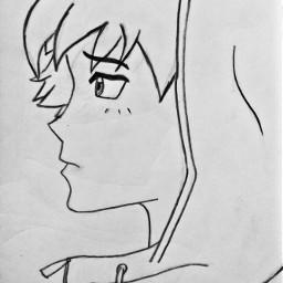 pencilart boy anime animeboy art