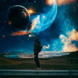 illusion space planet pcbeautifulbirthmarks universe freetoedit