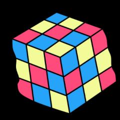 90s cube rubikcube retro freetoedit ftestickers