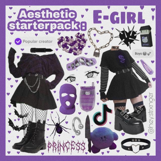 Egirl or Softgirl ? 🖤🍭#freetoedit #egirl #edgy #nichememe #moodboard #vintage #tiktok #outfit #explorepage