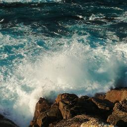 photography water sunnyday ocean rock