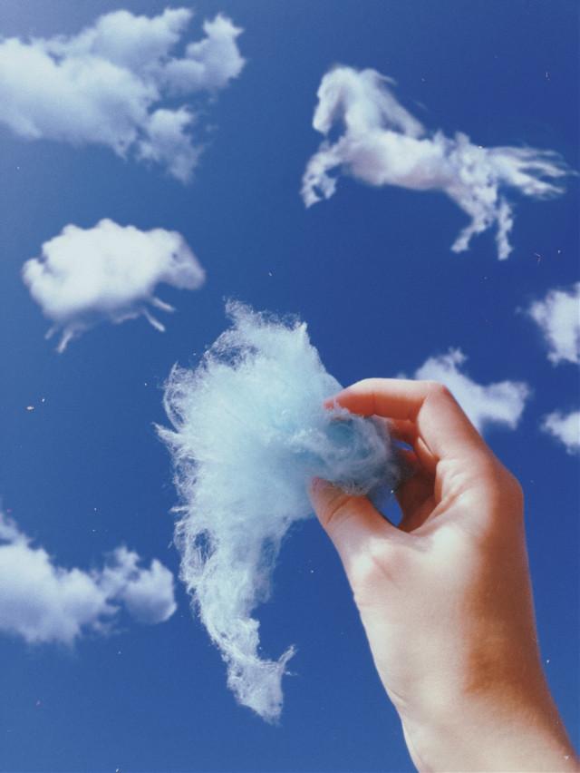 #freetoedit #небо #облака #вата #сахарнаявата