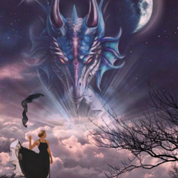 freetoedit editbyme moon luna dragon