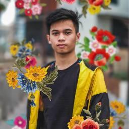freetoedit picsart madewithpicsart bouquet boy