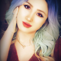 freetoedit woman colorhair colorfulhair beauty