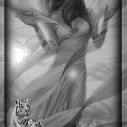 lady animals grassy fantasy myedit freetoedit srcfullmoon