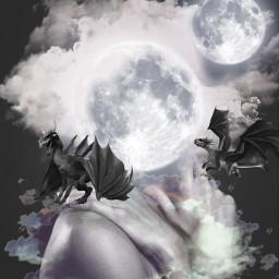 freetoedit remix dragon fantastic srcfullmoon
