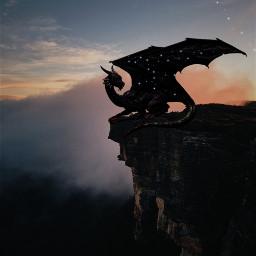 freetoedit dragon stars dark ecgiantanimals