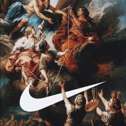 freetoedit classic art painting nike