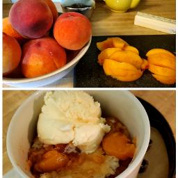freetoedit peaches peachesandcream homemade food
