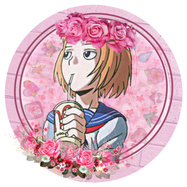 Icon for @tinini_zecevac 💕 Hope u like it~ #ichimezato #mezatoichi #ichi #mezato #mobpsycho100 #pink #flowers #roses