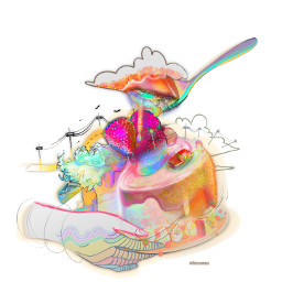 illustrations cake woman fanart drawing dcsunglasses dcchess dcbakeacake