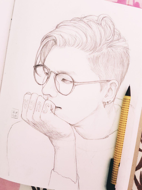 Okaaay!! Here's a Yoongi drawing since I don't have any edit to post 😭 I hope you like it!! 💖💖  Reference picture: yeonkiminsgirl 💖  💜🍃 Have a nice day/night my loves 🍃💜 . . . . . . . #kpopedit #kpop #suga #yoongi #yoongie #minyoongi #sugabts #sugafanart #bangtanboys #bangtan #bts #btsedit