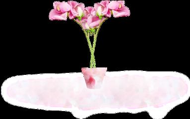 ftestickers flowers flowerpot 3deffect pink freetoedit