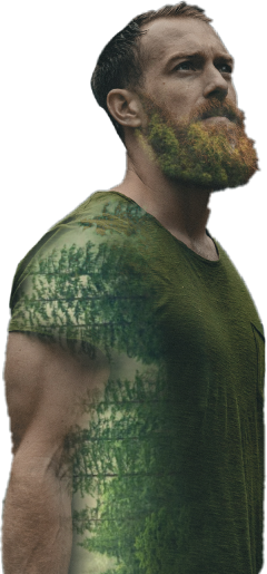 man trees surreal doubleexposure green freetoedit