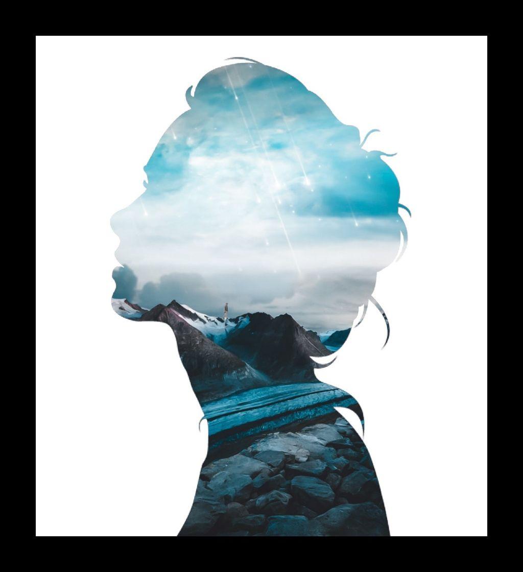 #freetoedit #woman#doubleexpesure #blue