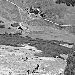 mountain onthemountain hiking people cabin