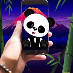 screenshot cutepanda volcano bamboo beautifulnight freetoedit ircscreenremix screenremix