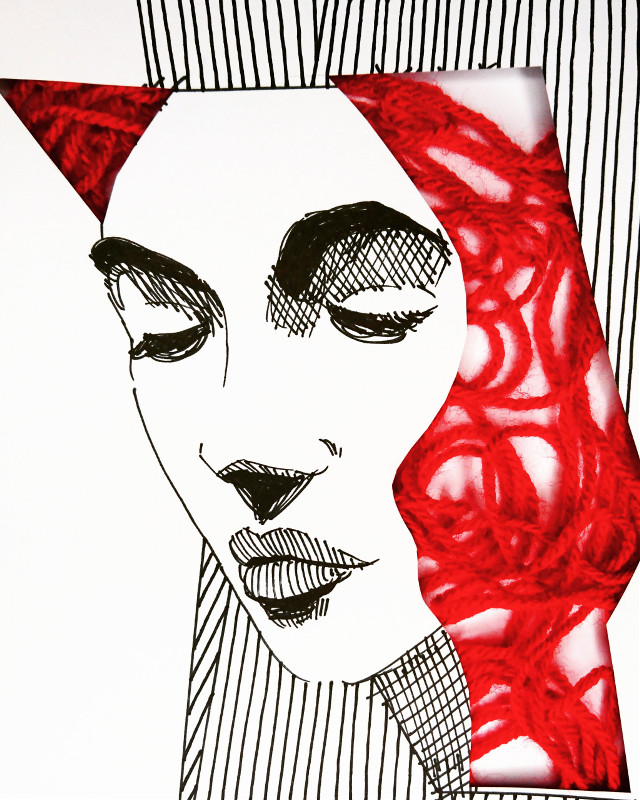 Red Wool... #drawing #wool #ink #theprometeus #illustration