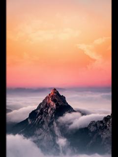 ftestickers landscape scenery mountains sunset freetoedit